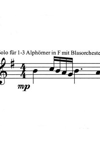 Alphorn mit Blasorchester